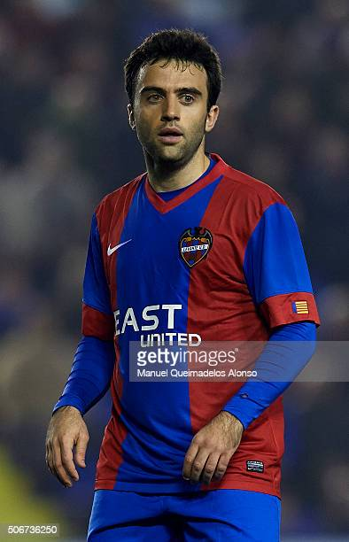 Jose Giusseppe Rossi of Levante looks on during the La Liga match between Levante UD and UD Las Palmas at Ciutat de Valencia Stadium on January 25...