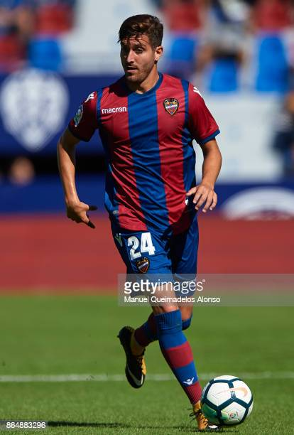Jose Gomez Campana of Levante runs with the ball during the La Liga match between Levante and Getafe at Ciutat de Valencia Stadium on October 21 2017...
