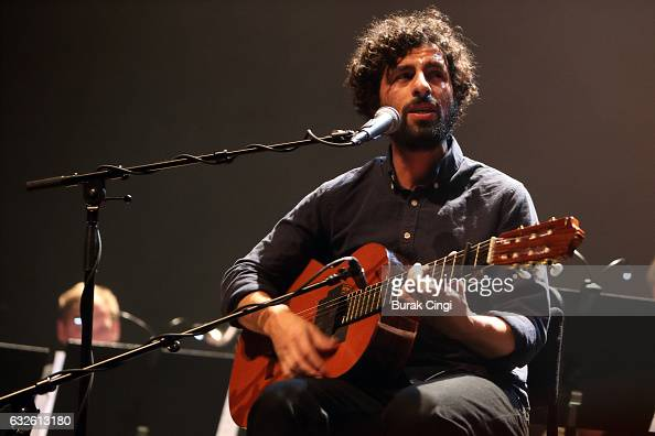 Jose Gonzalez performs on stage at the Royal Festival Hall on January 24 2017 in London United Kingdom