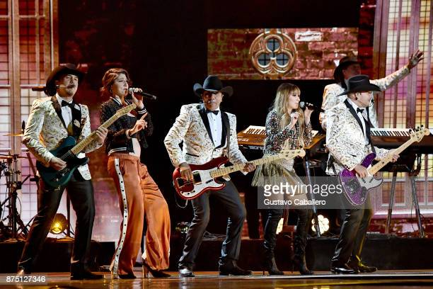 Jose Guadalupe Esparza and his group Bronco perform with Ashley Grace Perez Mosa and Hanna Nicole Perez Mosa of HaAsh onstage during The 18th Annual...