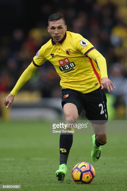 Baye Niang of Watford in action during the Premier League match between Watford and Southampton at Vicarage Road on March 4 2017 in Watford England