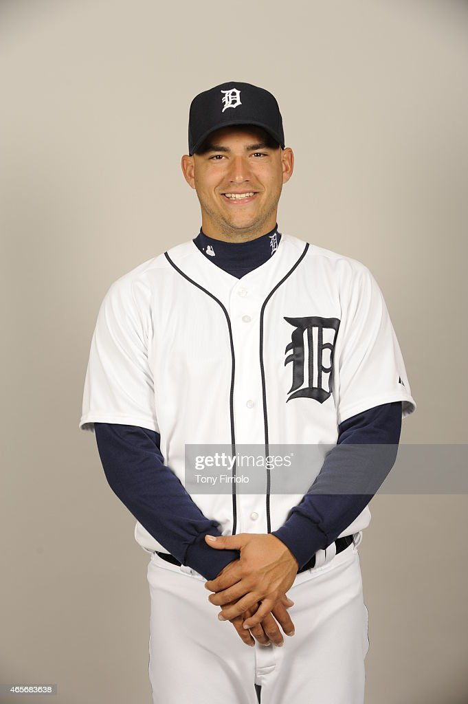 Jose Iglesias #1 of the Detroit Tigers poses during Photo Day on Saturday, February 28, 2015 at Joker Marchant Stadium in Lakeland, Florida.