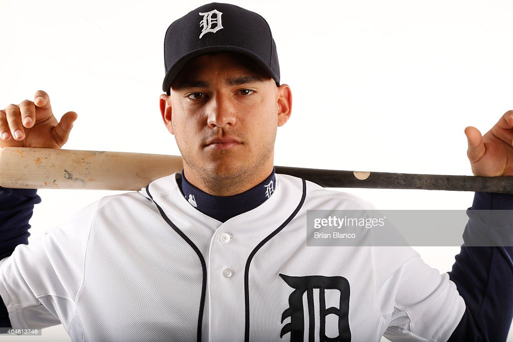 Jose Iglesias #1 of the Detroit Tigers poses for a photo during the Tigers' photo day on February 28, 2015 at Joker Marchant Stadium in Lakeland, Florida.