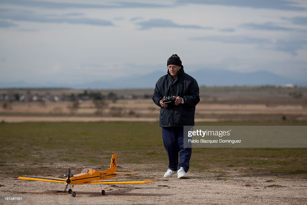 Jose Ignacio Martinez, 57, taxis a remote controlled model aeroplane at the location at which he has flown planes for the last 23 years and what is now the proposed site of the new 'Eurovegas' complex on February 10, 2013 in Alcorcon, near Madrid, Spain. Controversial plans have been given the go ahead for the Las Vegas Sands Corporation to build Europe's biggest casino and conference centre on the outskirts of Madrid bringing thousands of much needed jobs for the Spanish economy. As multi billionaire investor Sheldon Adelson's announced his plans protestors were claiming that the 36,000 room hotel complex would bring gambling addiction, criminal activity, prostitution and environmental damage to the area.