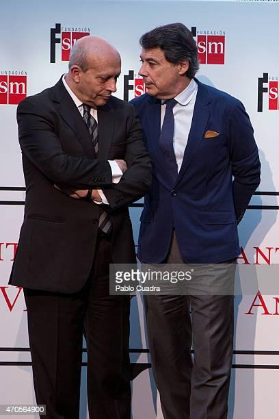 Jose Ignacio Wert and Ignacio Gonzalez attend the 'Barco de Vapor' and 'Gran Angular' awards ceremony on April 21 2015 in Madrid Spain