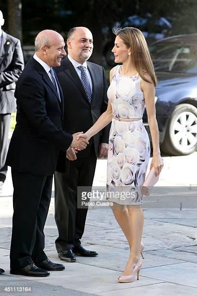 Jose Ignacio Wert and Queen Letizia of Spain attends The Opening of 'El Greco y La Pintura Moderna' Exhibition at El Prado Museum on June 23 2014 in...