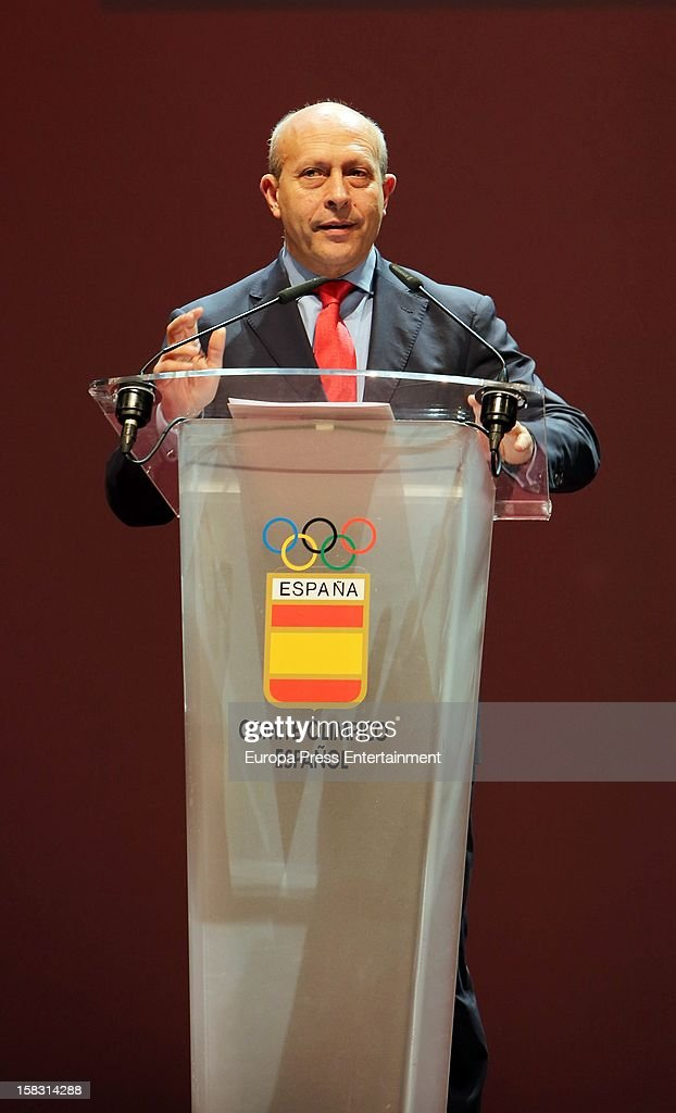 <a gi-track='captionPersonalityLinkClicked' href=/galleries/search?phrase=Jose+Ignacio+Wert&family=editorial&specificpeople=8761709 ng-click='$event.stopPropagation()'>Jose Ignacio Wert</a> attends Spanish Olympic Commitee Centenary Gala at El Canal Theatre on December 12, 2012 in Madrid, Spain.