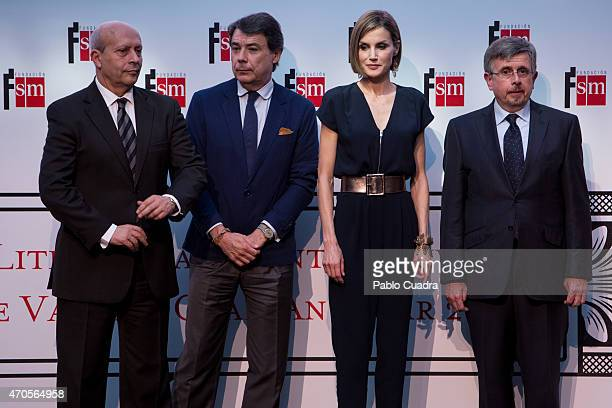 Jose Ignacio Wert Ignacio Gonzalez and Queen Letizia of Spain attend the 'Barco de Vapor' and 'Gran Angular' awards ceremony on April 21 2015 in...