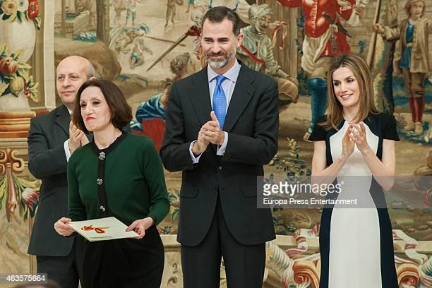 Jose Ignacio Wert Luz Casal King Felipe VI of Spain and Queen Letizia of Spain attend 'National Culture Awards' 2015 on February 16 2015 in Madrid...