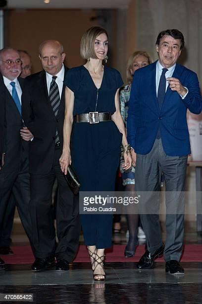 Jose Ignacio Wert Queen Letizia of Spain and Ignacio Gonzalez attend the 'Barco de Vapor' and 'Gran Angular' awards ceremony on April 21 2015 in...