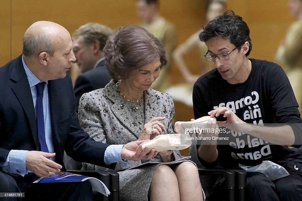 Queen Sofia of Spain Visit the Spanish National Ballet and National Dance Company