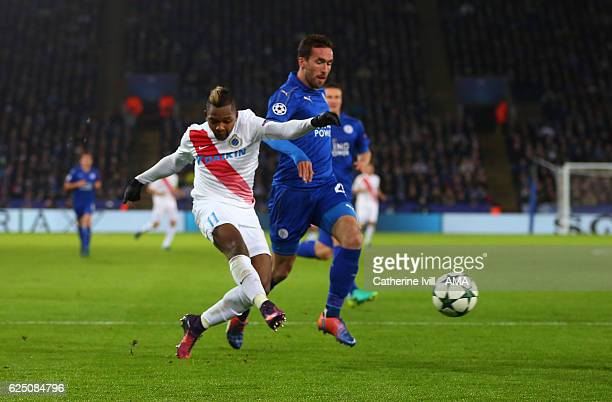 Jose Izquierdo of Club Brugge scores a goal to make it 21 during the UEFA Champions League match between Leicester City FC and Club Brugge KV at The...