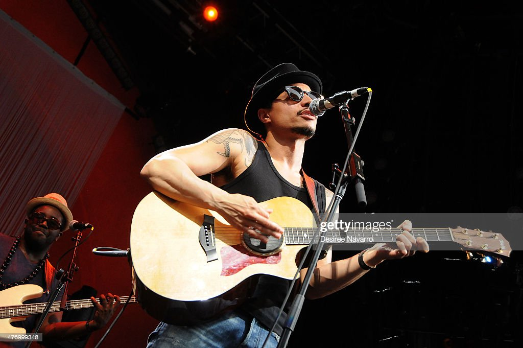 Jose James performs at 2015 Celebrate Brooklyn! Esperanza Spalding Presents: Emily's D+Evolution And Jose James at Prospect Park Bandshell on June 12, 2015 in the Brooklyn borough of New York City.