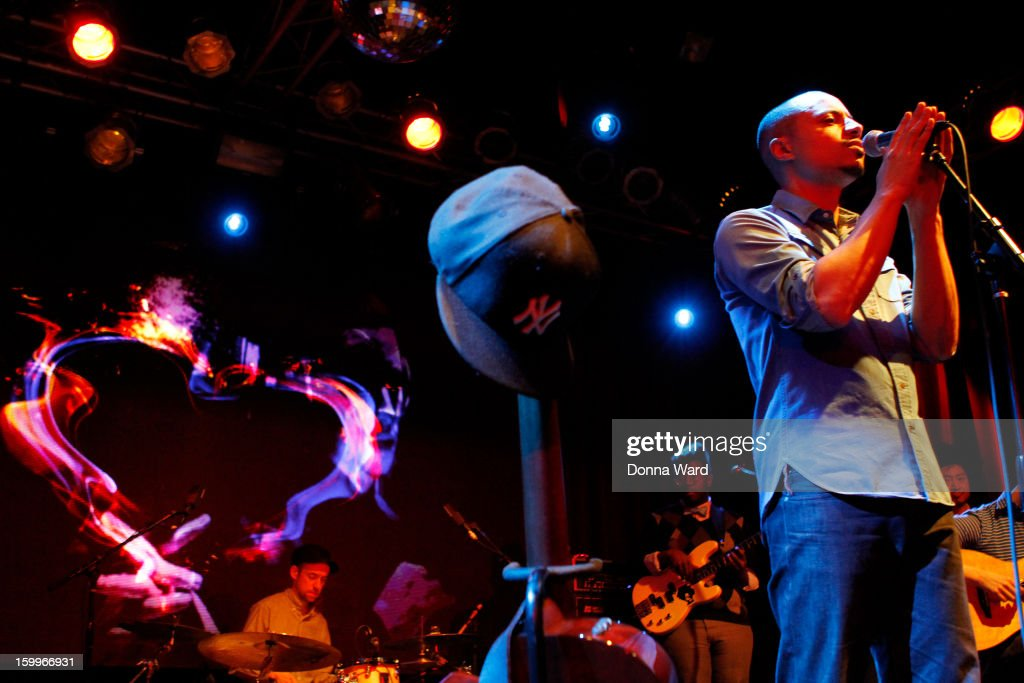 Jose James performs at Highline Ballroom on January 23, 2013 in New York City.