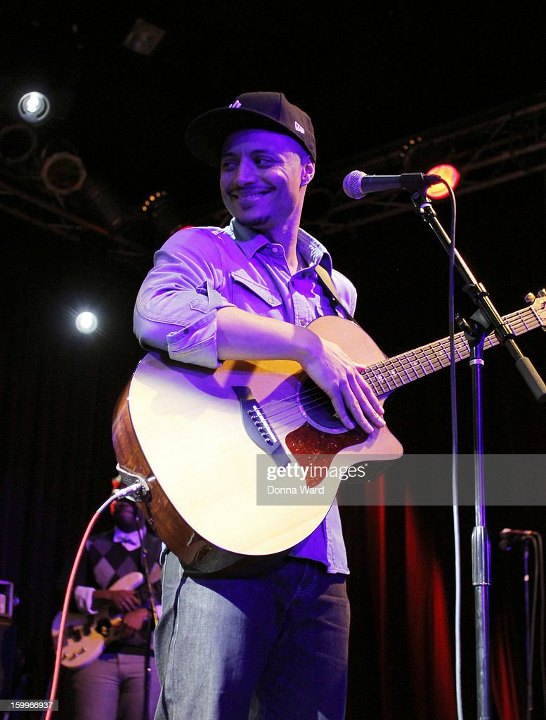 Jose James performs songs from 'No Beginning, No End' at Highline Ballroom on January 23, 2013 in New York City.