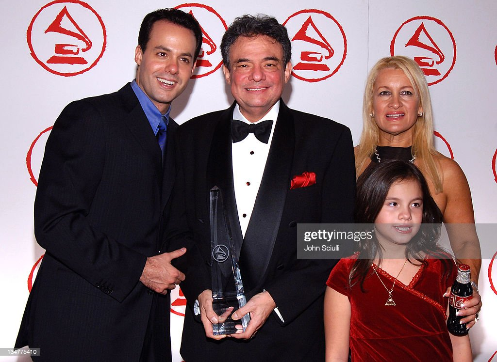 Jose Jose and family during 2005 Latin Recording Academy Person of the Year Arrivals at Regent Beverly Wilshire in Beverly Hills California United...