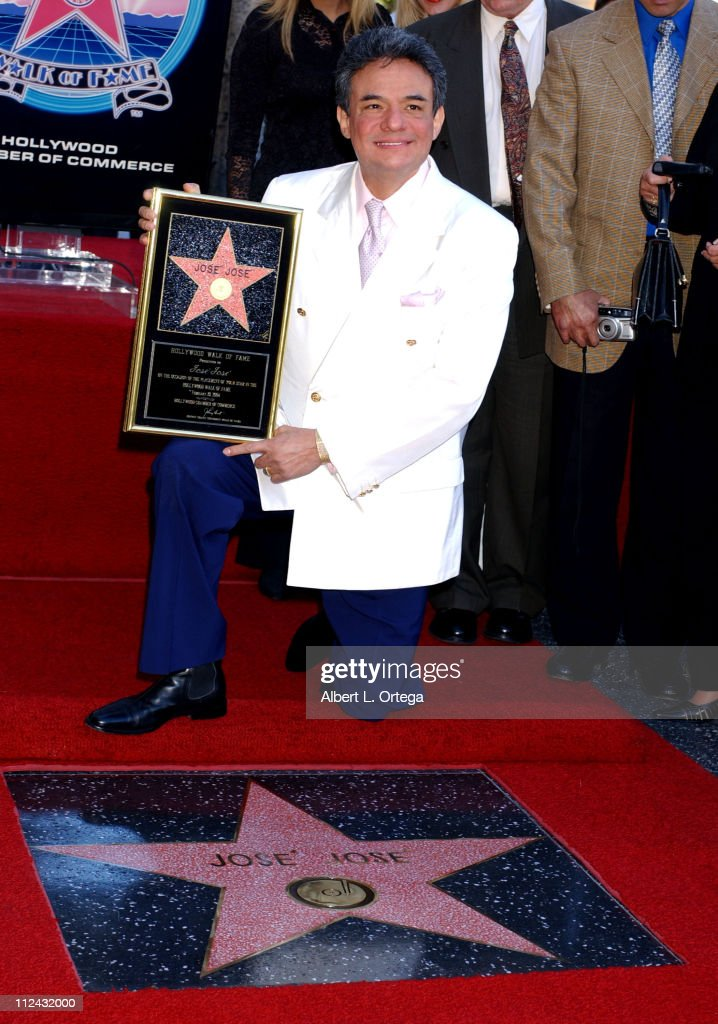 Jose Jose during Mexican Balladeer Jose Jose Honored with a Star on the Hollywood Walk of Fame for His Achievements in Music at Hollywood Blvd in...