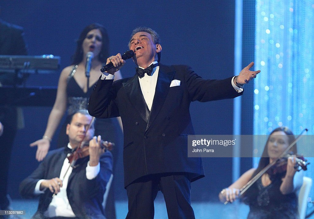 Jose Jose performs at the 2011 Billboard Latin Music Awards at Bank United Center on April 28 2011 in Miami Florida