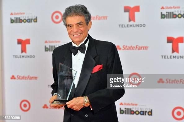 Jose Jose poses backstage at Billboard Latin Music Awards 2013 at Bank United Center on April 25 2013 in Miami Florida