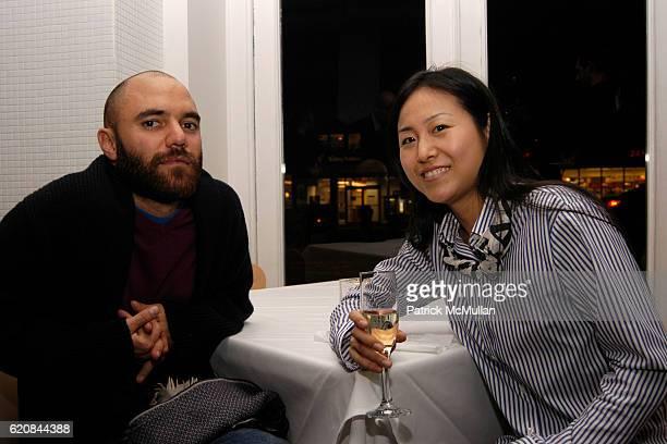 Jose Leon Cerrillo and Mika Tajima attend Whitney Biennial Artists Party at Trata Estiatoria on March 8 2008 in New York City
