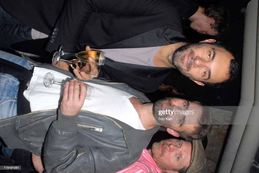 jose levy and lutz attend the facade magazine celebration cocktail party at the passage du desir