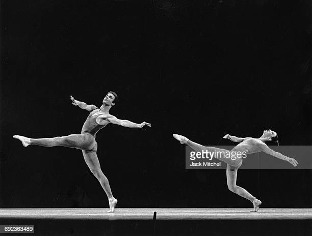 Jose Limon dancers Louis Falco and Sally Stackhouse performing 'A Choreographic Offering' in 1966