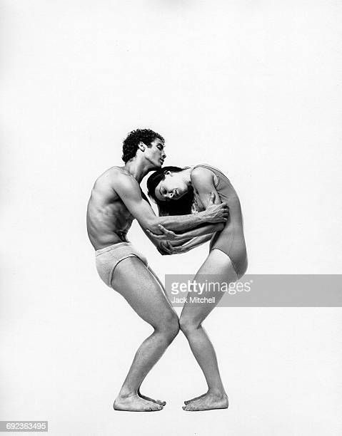 Jose Limon dancers Louis Falco and Sally Stackhouse performing 'Exiles' in 1966