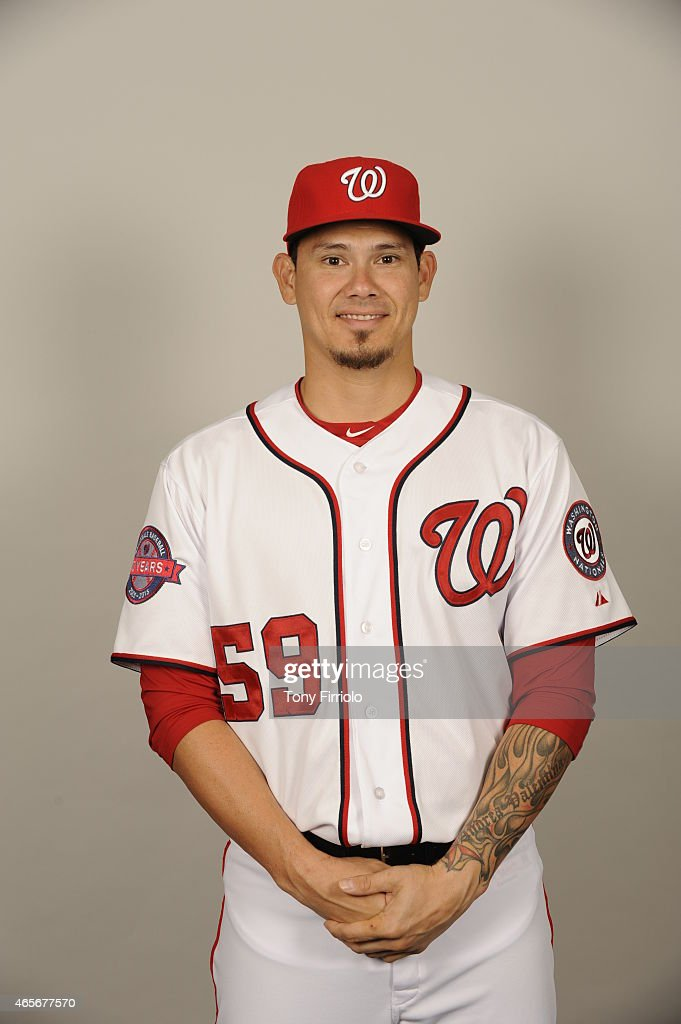 Jose Lobaton #59 of the Washington Nationals poses during Photo Day on Sunday, March 1, 2015 at Space Coast Stadium in Viera, Florida.
