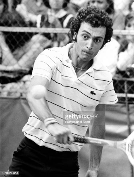 Jose Luis Clerc of Argentina in action during the US Open Tennis Championships held at the USTA National Tennis Centre in Flushing Meadows New York...