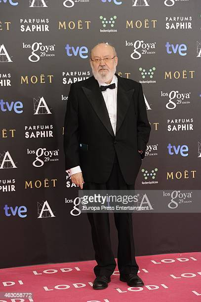Jose Luis Cuerda attends Goya Cinema Awards 2015 at Centro de Congresos Principe Felipe on February 7 2015 in Madrid Spain