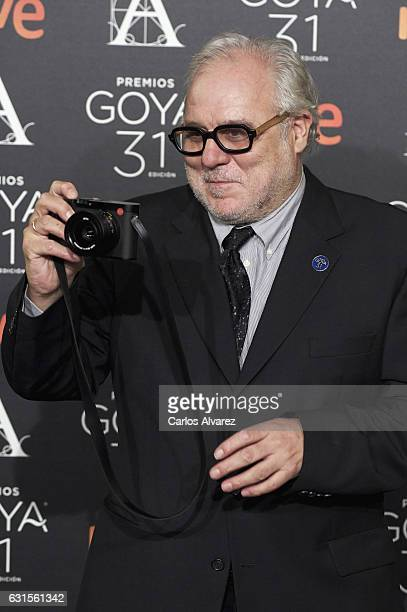 Jose Luis Lopez Linares attends the Goya cinema awards candidates 2016 cocktail at the Ritz Hotel on January 12 2017 in Madrid Spain