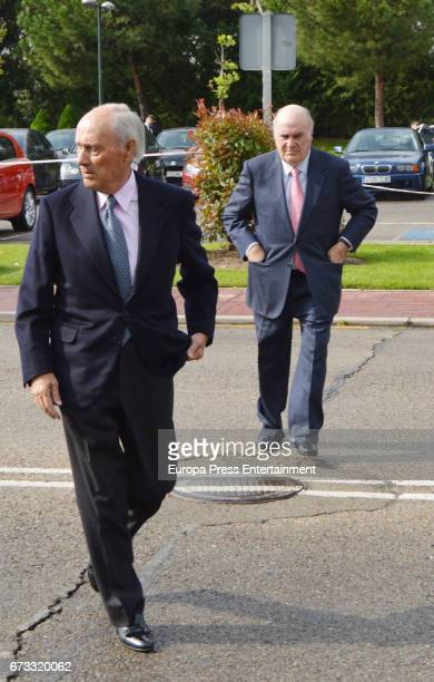 Jose Luis Lozano and Pablo Lozano attends the funeral chapel for the bullfighter Sebastian Palomo Linares on April 25 2017 in Madrid Spain