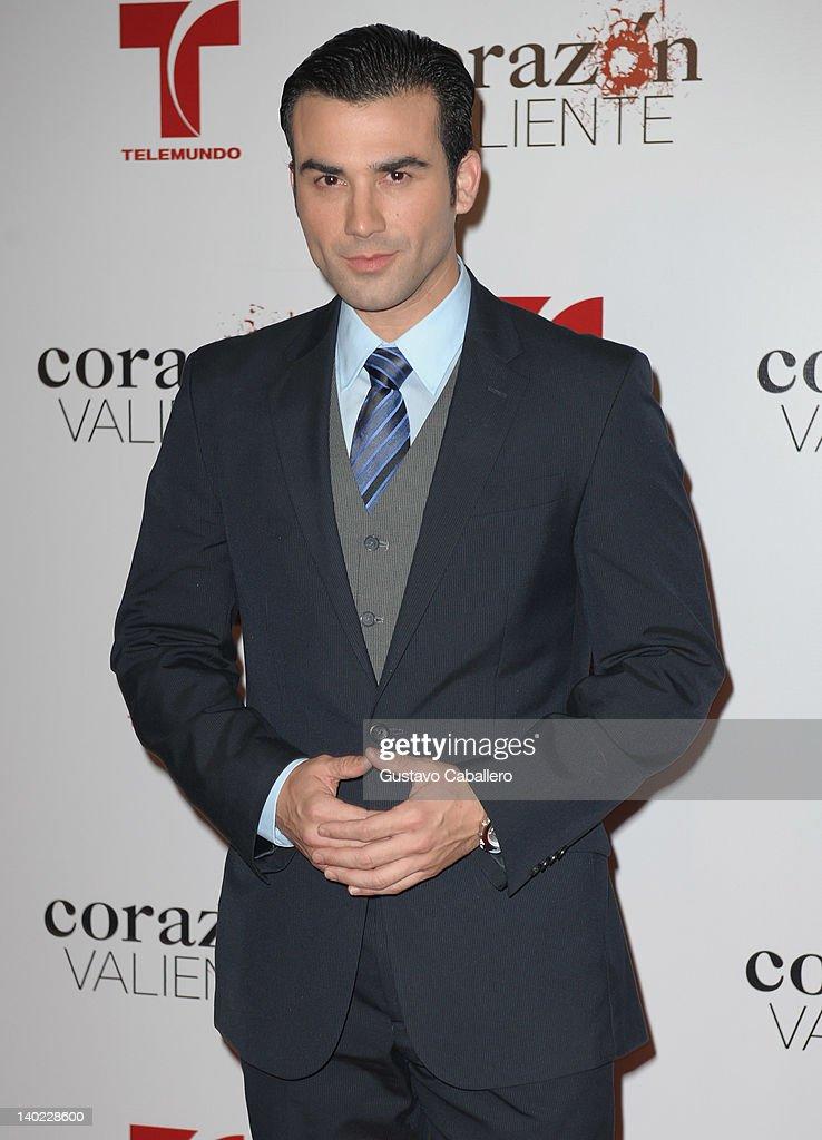 Jose Luis Resendez attends Telemundo's Corazon Valiente Red Carpet Premiere at Fontainebleau Miami Beach on February 29, 2012 in Miami Beach, Florida.