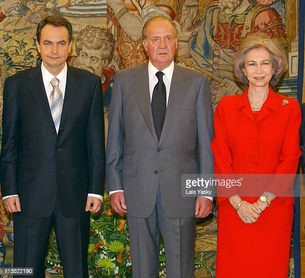 Jose Luis Rodriguez Zapatero King Juan Carlos and Queen Sofia