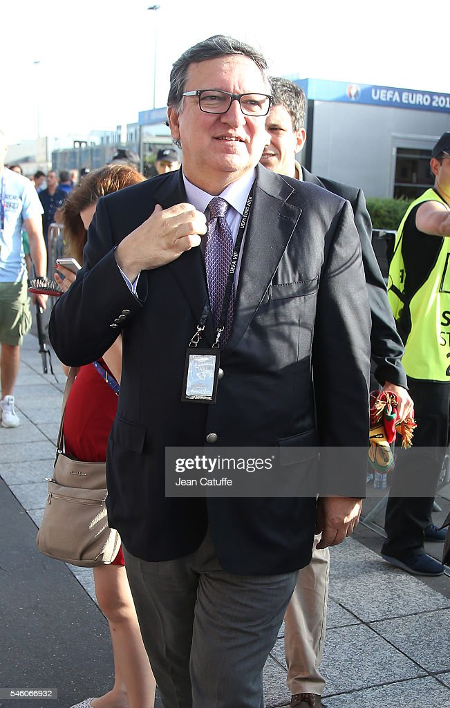 Jose Manuel Barroso attends the UEFA Euro 2016 final match between Portugal and France at Stade de France on July 10 2016 in SaintDenis near Paris...