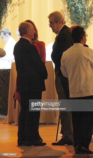 Jose Manuel Lara and Rodrigo Rato attends the wedding of Pablo Lara and Anna Trufau at Santa Maria del Mar on October 26 2013 in Barcelona Spain