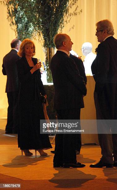 Jose Manuel Lara Rodrigo Rato and Maria Teresa Fernandez de la Vega attend the wedding of Pablo Lara and Anna Trufau at Santa Maria del Mar on...