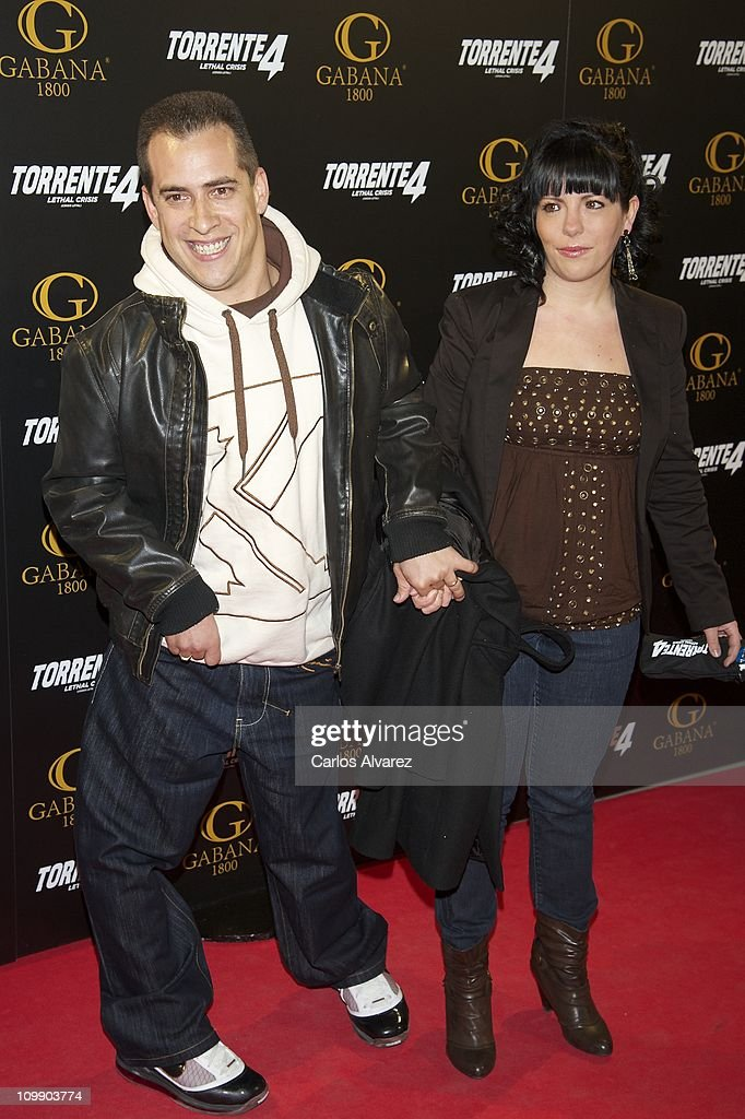 Jose Manuel Montilla 'El Langui' (L) attends 'Torrente 4' premiere at the Capitol cinema on March 9, 2011 in Madrid, Spain.