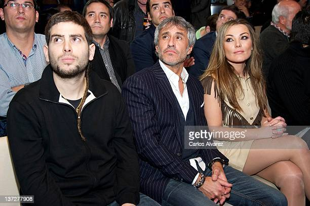 Jose Manuel Munoz Sergio Dalma and Amaia Montero attend Cadena Dial Awards 2012 press conference at 40 Principales Cafe on January 18 2012 in Madrid...