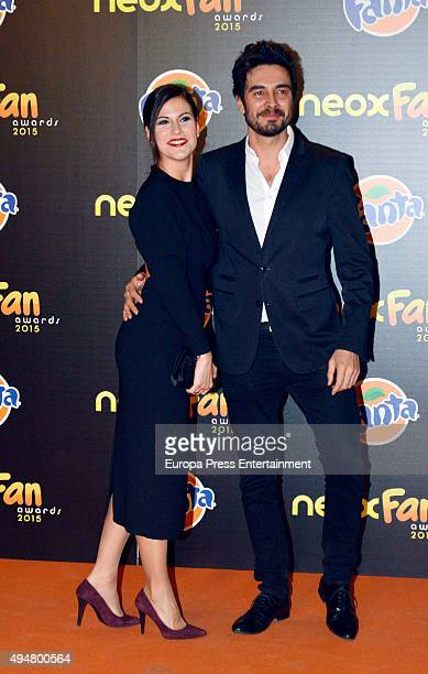 Jose Manuel Seda and Noemi Ruiz attend 2015 Neox Fan Award on October 28 2015 in Madrid Spain