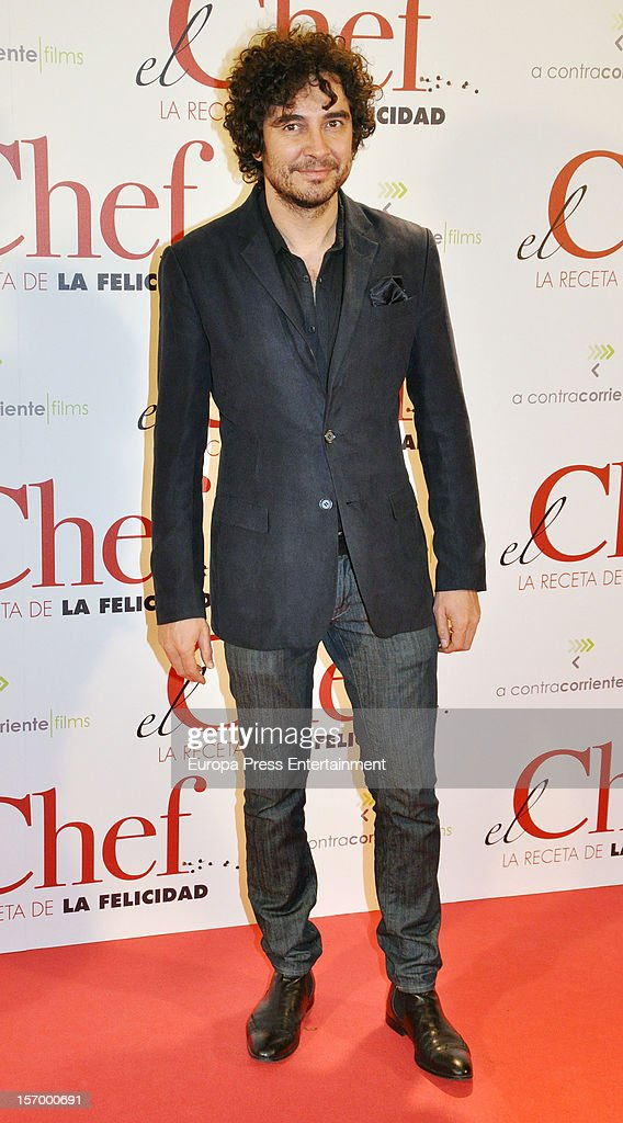 Jose Manuel Seda attends 'El Chef, La Receta de la Felicidad' premiere on November 26, 2012 in Madrid, Spain.
