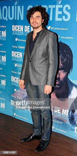 Jose Manuel Seda attends the premiere 'Dicen de Mi' the flamenco show by Joaquin Cortes on December 20 2012 in Madrid Spain