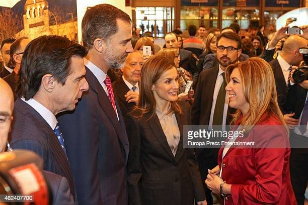 Jose Manuel Soria King Felipe VI of Spain Queen Letizia of Spain and Susana Diaz attend 'FITUR' International Tourism Fair opening at Ifema on...