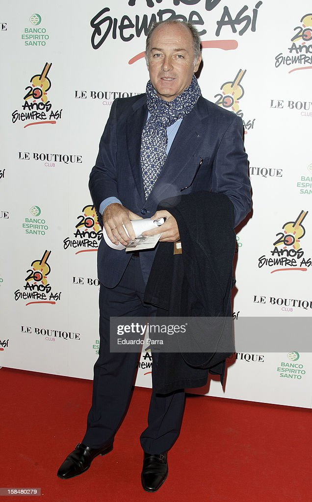 Jose Manuel Soto attends '20 anos Siempre Asi' concert photocall at Rialto theatre on December 17, 2012 in Madrid, Spain.