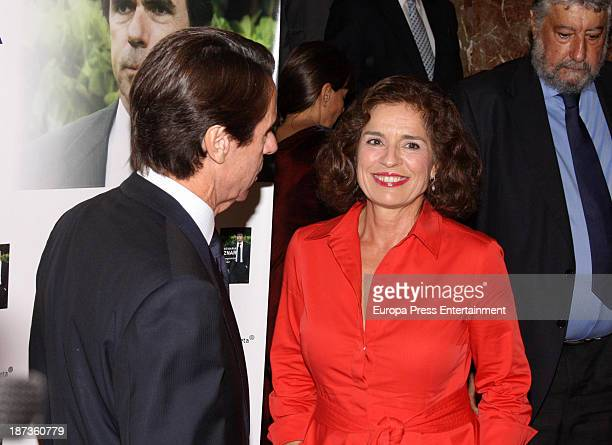 Jose Maria Aznar and Ana Botella attend the presentation of the new book of Spanish Ex Prime Minister Jose Maria Aznar 'El compromiso del poder' on...