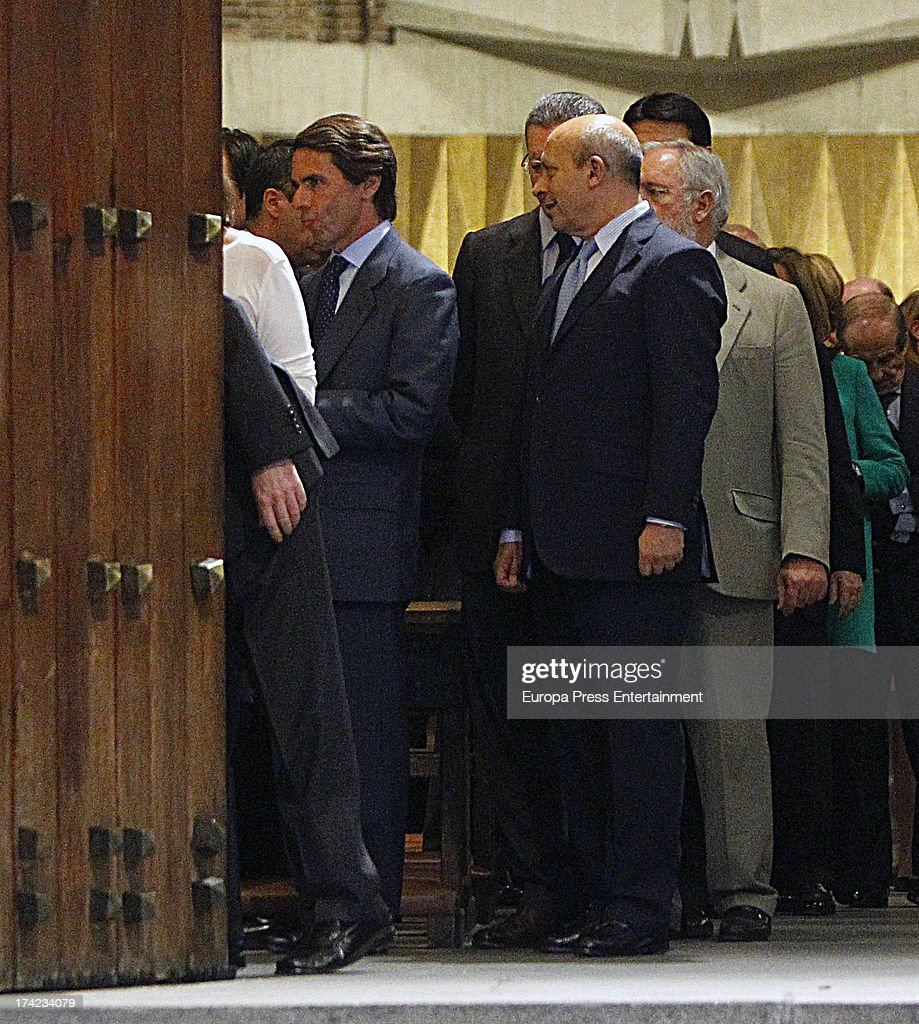 Soraya Saenz de Santamaria s Father Funeral In Madrid July 08