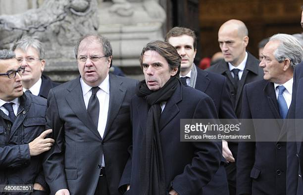 Jose Maria Aznar attends the funeral for Adolfo Suarez the first Prime Minister of Democracy in Spain on March 25 2014 in Avila Spain