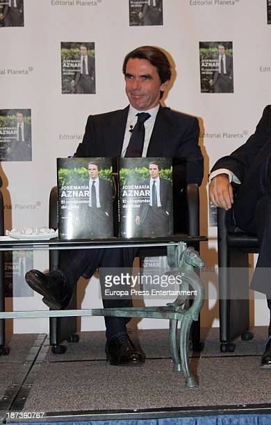 Jose Maria Aznar attends the presentation of the new book of Spanish Ex Prime Minister Jose Maria Aznar 'El compromiso del poder' on November 7 2013...