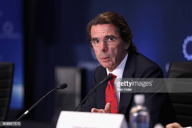 Jose Maria Aznar former President of the Government of Spain attends 2016 Concordia Summit Day 2 at Grand Hyatt New York on September 20 2016 in New...