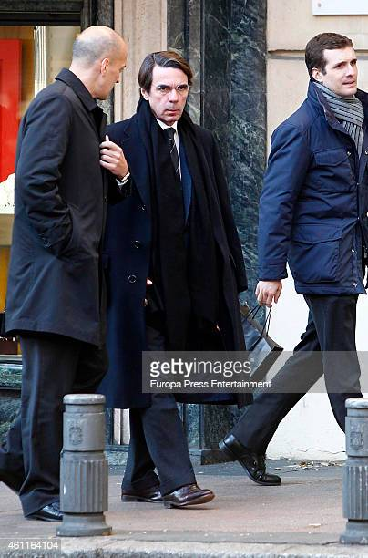 Jose Maria Aznar is seen on January 7 2015 in Madrid Spain